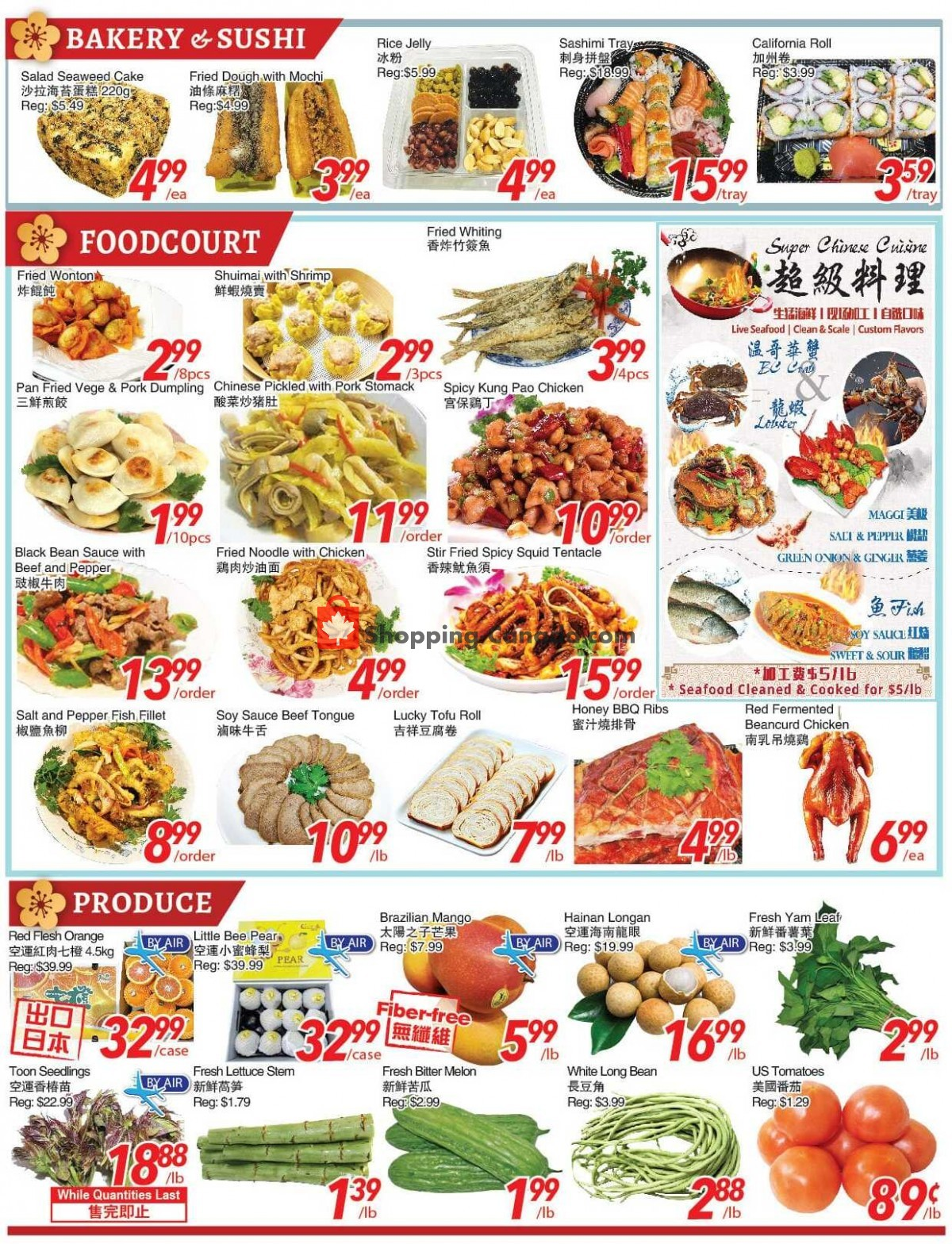 Flyer Foody World Canada - from Friday April 23, 2021 to Thursday April 29, 2021