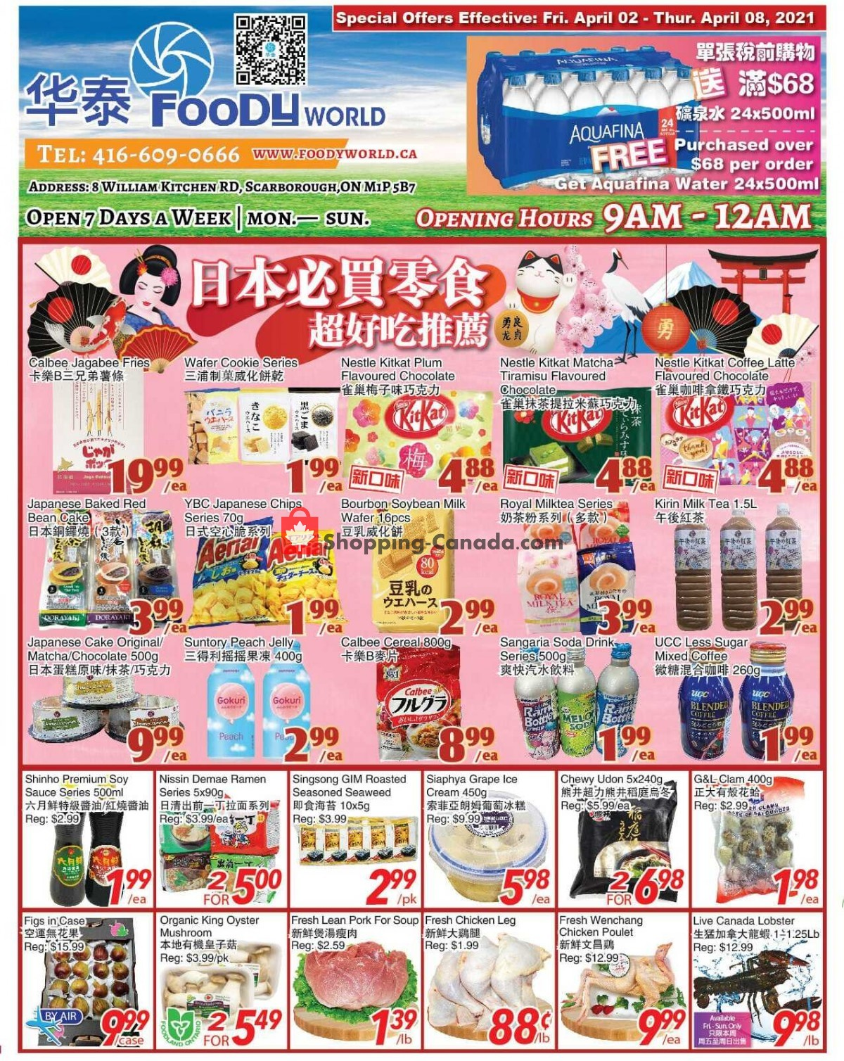 Flyer Foody World Canada - from Friday April 2, 2021 to Thursday April 8, 2021