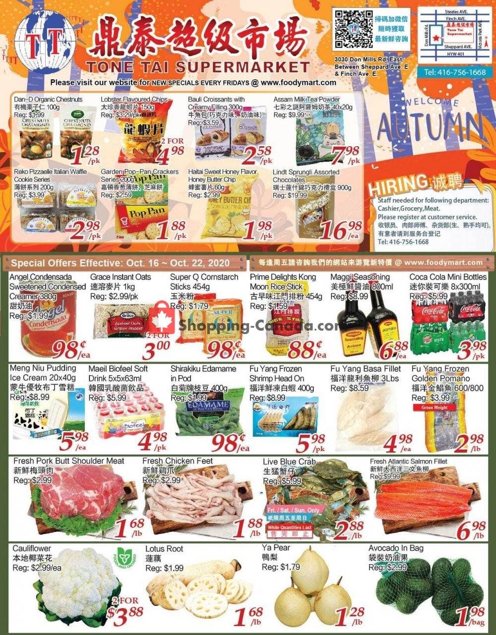 Flyer Foodymart Canada - from Friday October 16, 2020 to Thursday October 22, 2020