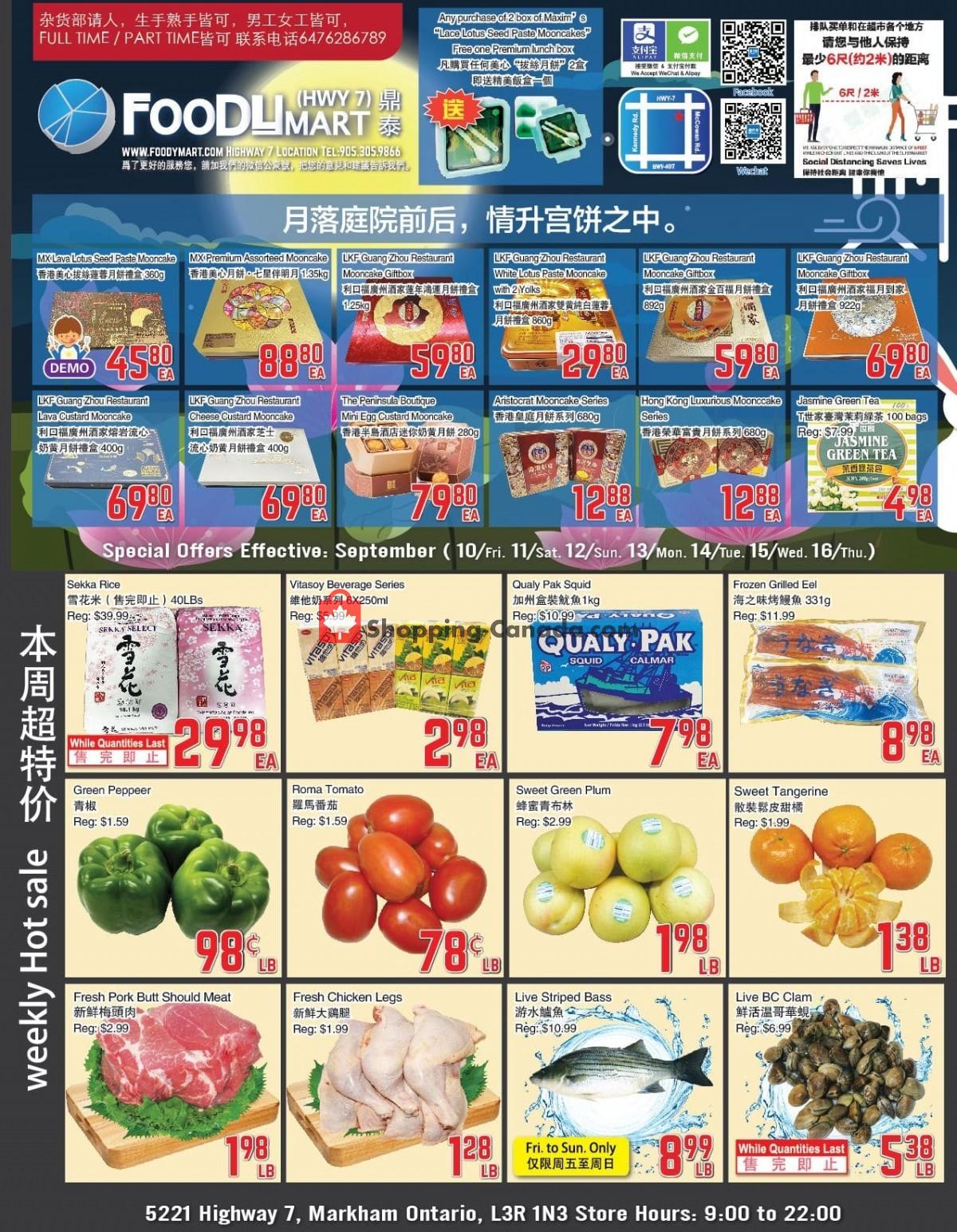 Flyer Foodymart Canada - from Friday September 10, 2021 to Thursday September 16, 2021