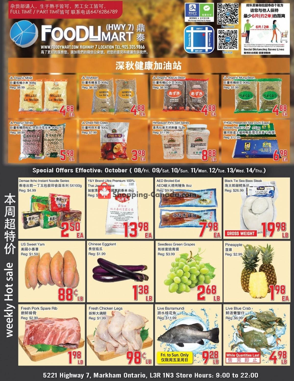 Flyer Foodymart Canada - from Friday October 8, 2021 to Thursday October 14, 2021