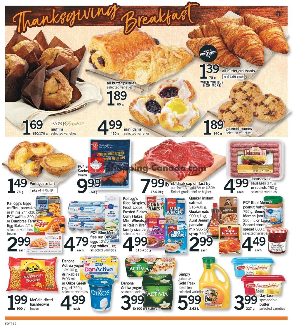Flyer Fortinos Canada - from Thursday October 10, 2019 to Monday October 14, 2019