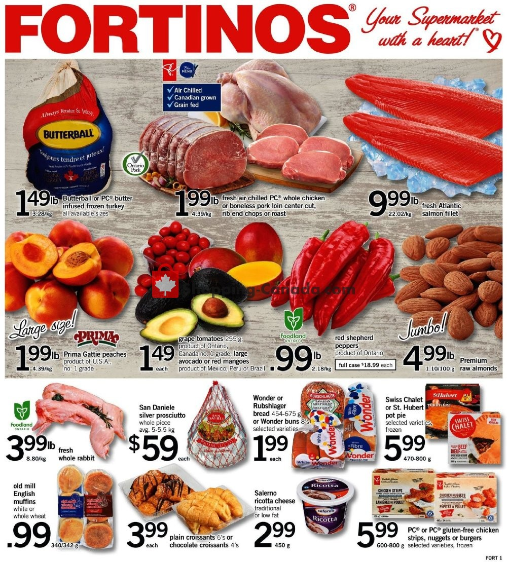Flyer Fortinos Canada - from Thursday September 20, 2018 to Wednesday September 26, 2018