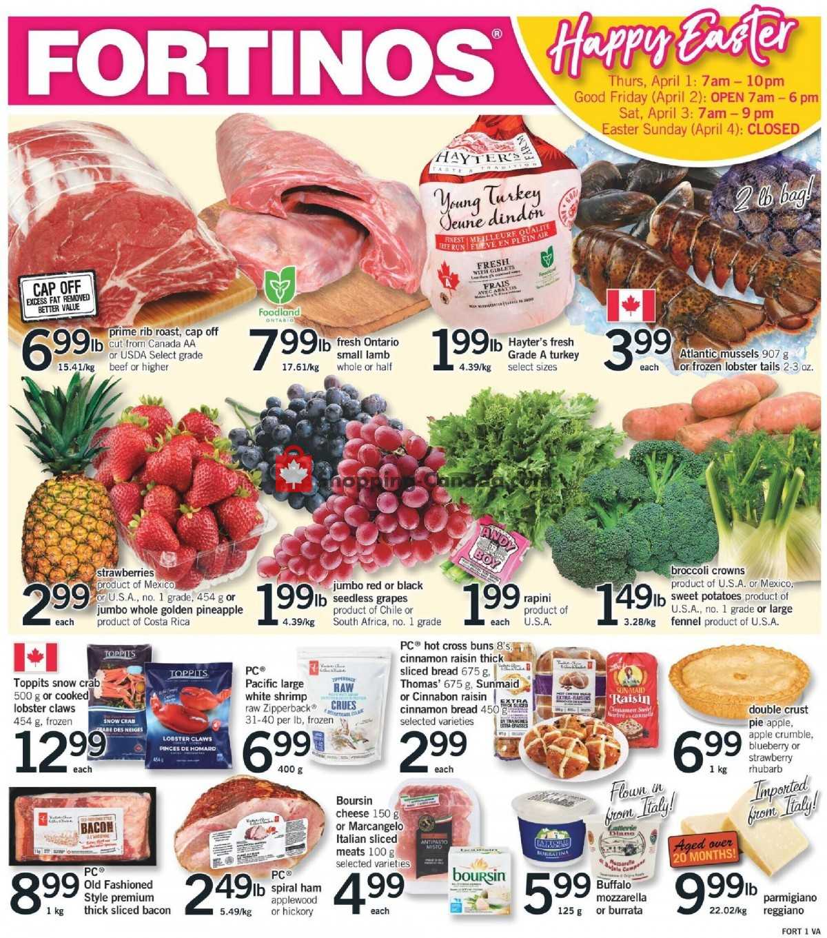 Flyer Fortinos Canada - from Thursday April 1, 2021 to Saturday April 3, 2021
