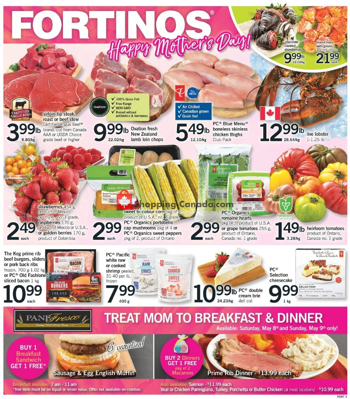 Flyer Fortinos Canada - from Thursday May 6, 2021 to Wednesday May 12, 2021
