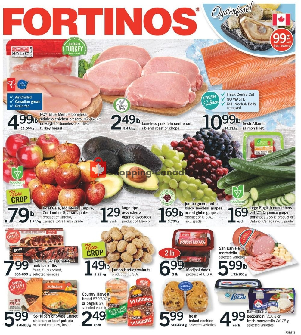 Flyer Fortinos Canada - from Thursday October 15, 2020 to Wednesday October 21, 2020