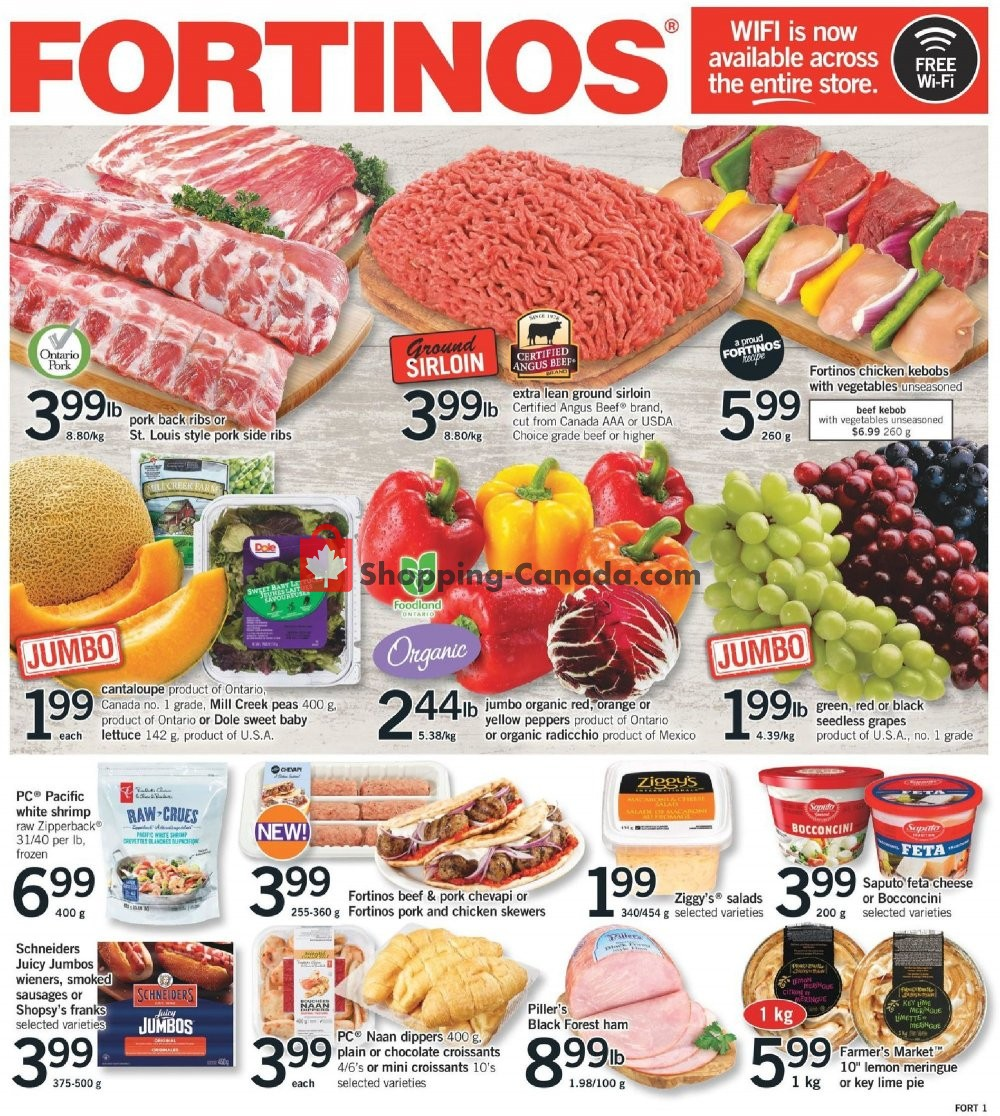 Flyer Fortinos Canada - from Thursday August 8, 2019 to Wednesday August 14, 2019