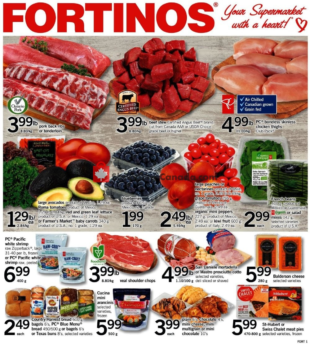 Flyer Fortinos Canada - from Thursday February 21, 2019 to Wednesday February 27, 2019
