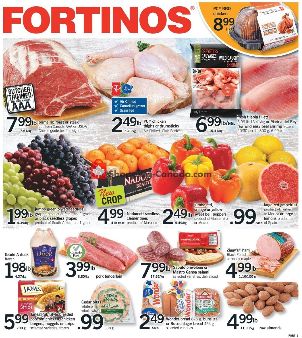 Flyer Fortinos Canada - from Thursday January 21, 2021 to Wednesday January 27, 2021