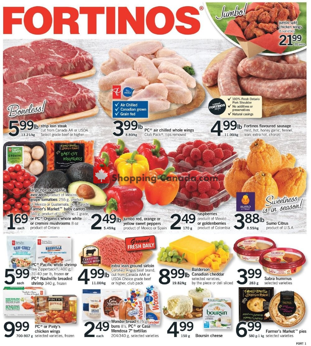 Flyer Fortinos Canada - from Thursday January 30, 2020 to Wednesday February 5, 2020