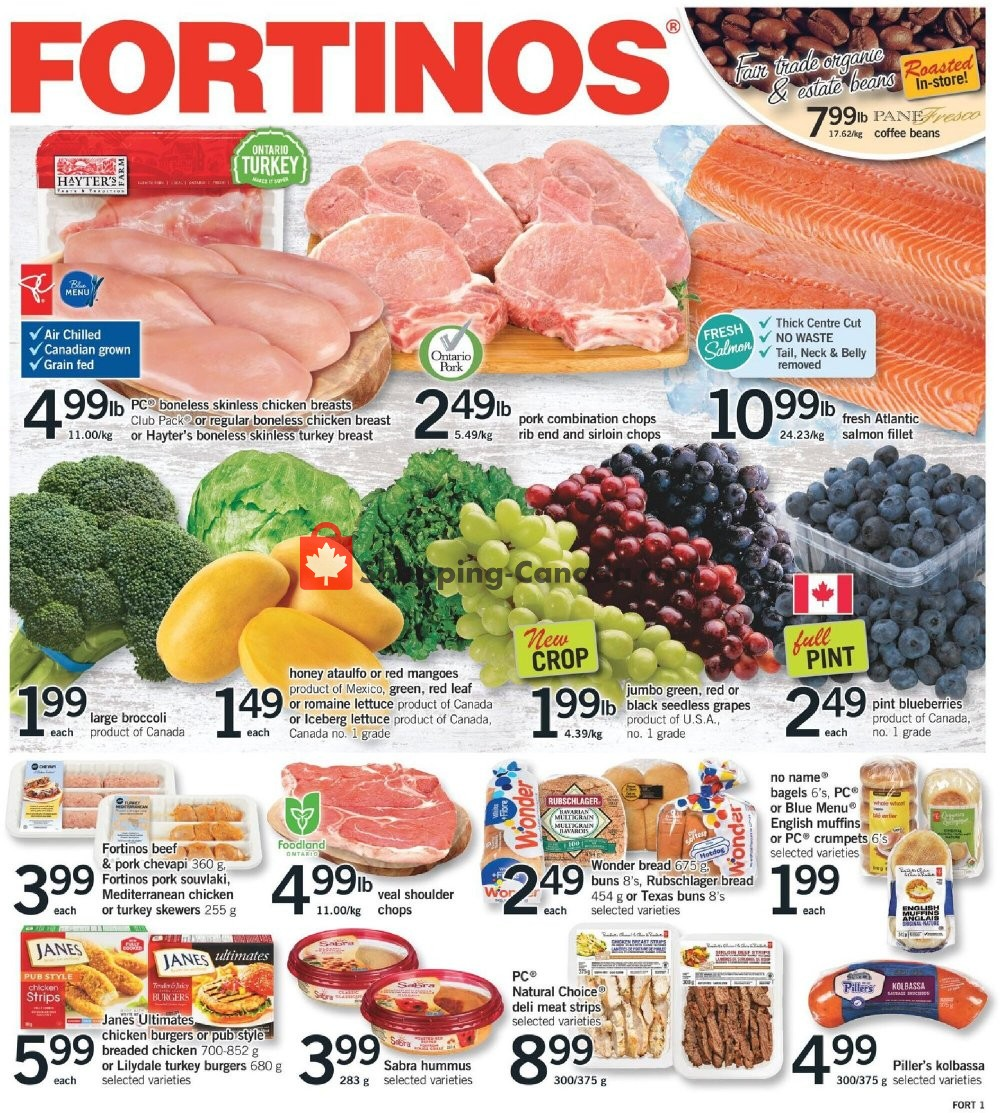 Flyer Fortinos Canada - from Thursday July 16, 2020 to Wednesday July 22, 2020