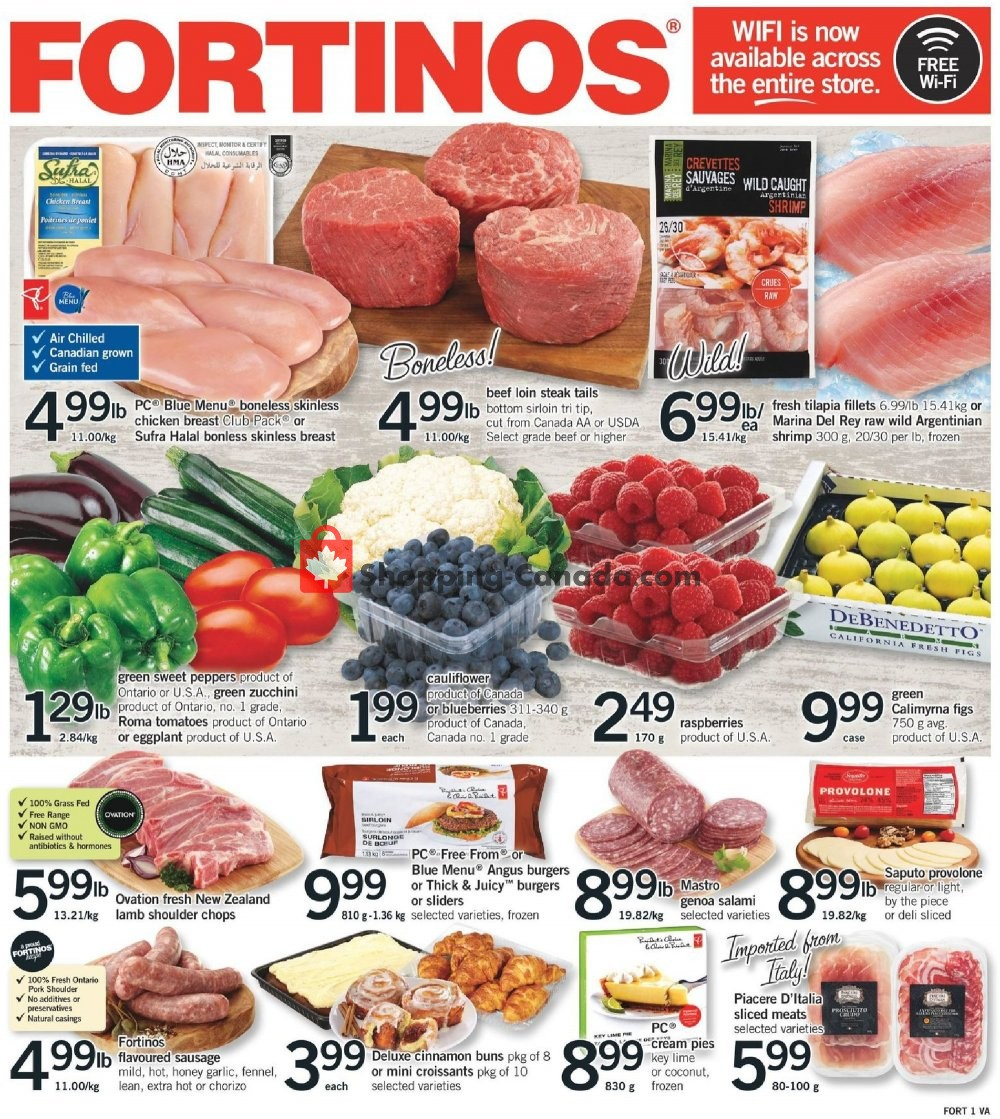 Flyer Fortinos Canada - from Thursday July 25, 2019 to Wednesday July 31, 2019