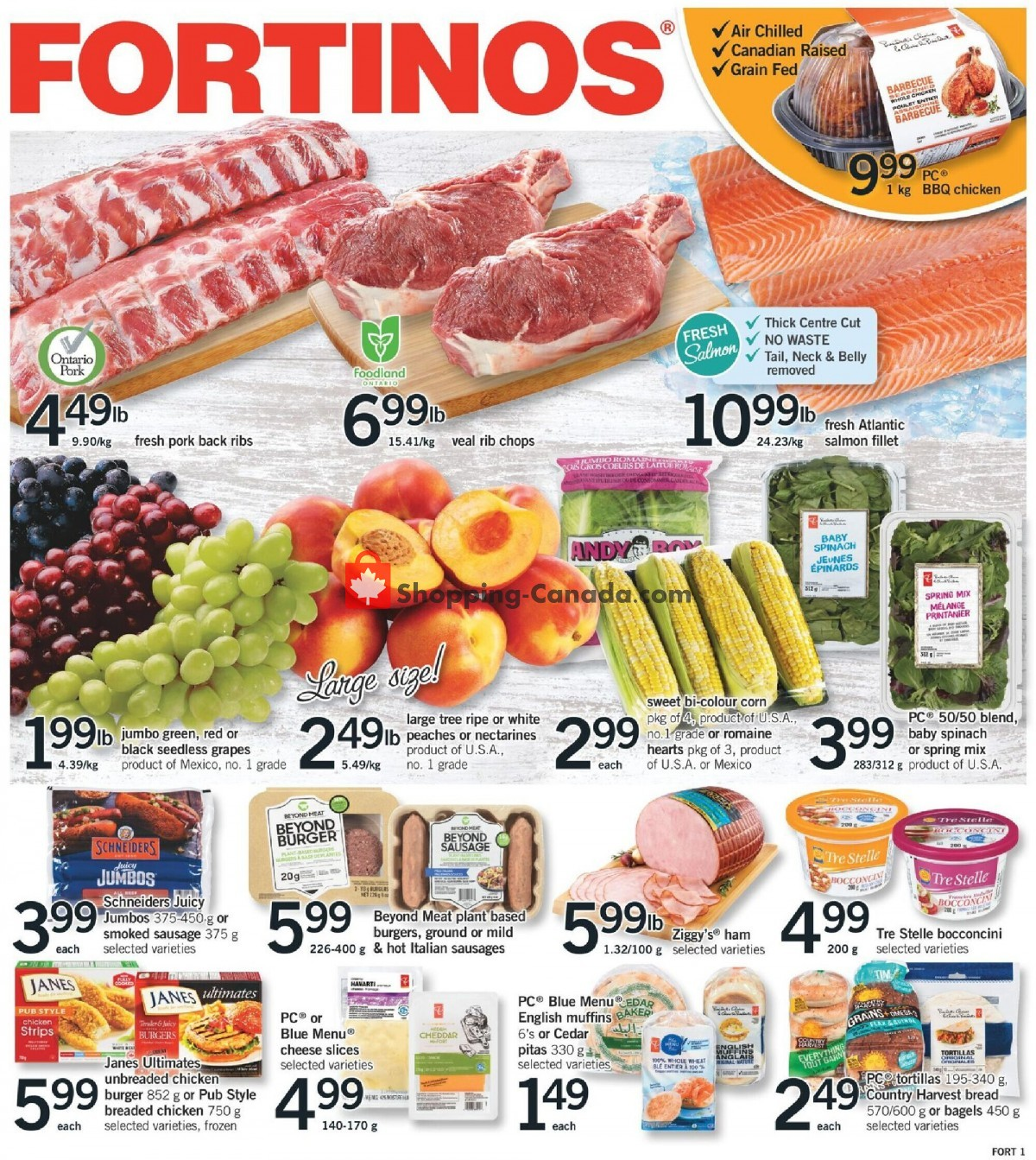 Flyer Fortinos Canada - from Thursday June 10, 2021 to Wednesday June 16, 2021