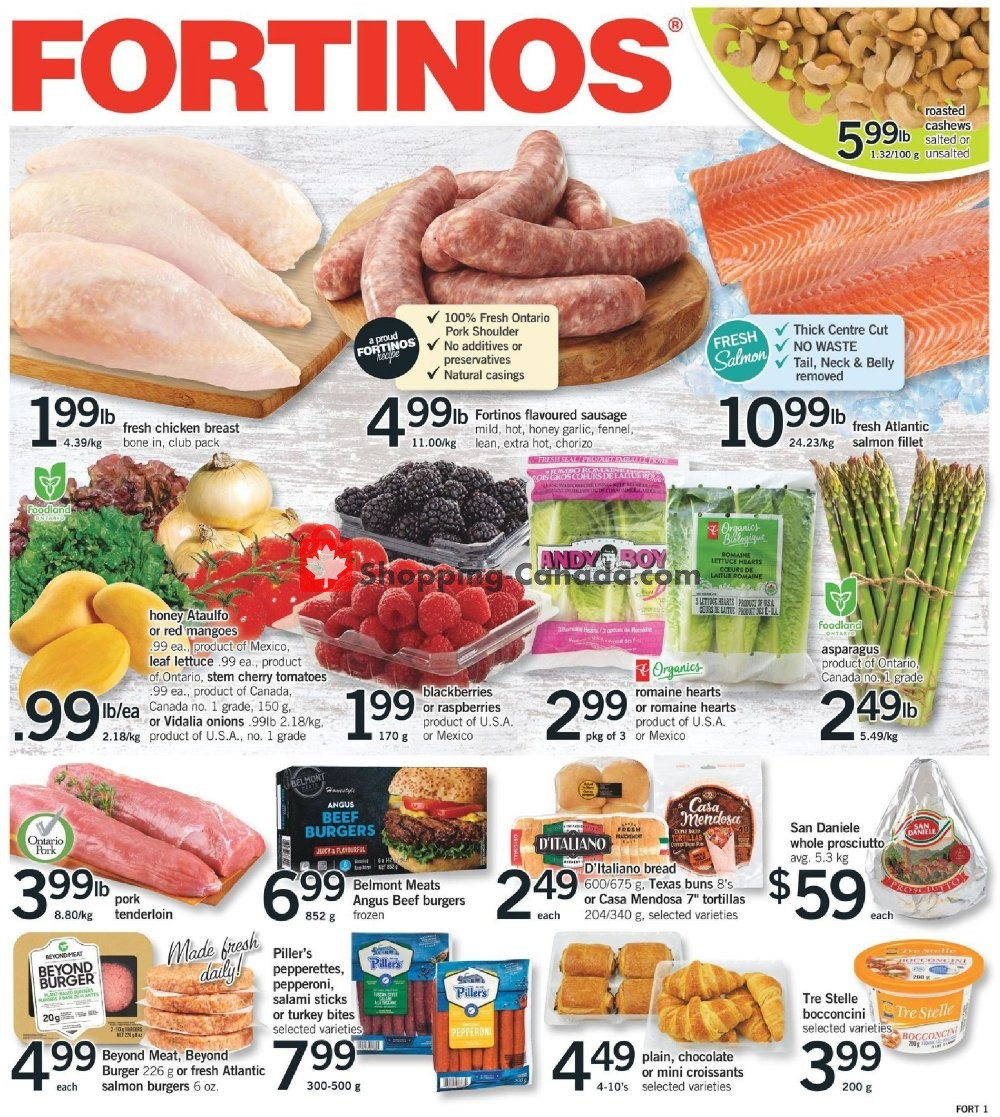 Flyer Fortinos Canada - from Thursday June 4, 2020 to Wednesday June 10, 2020
