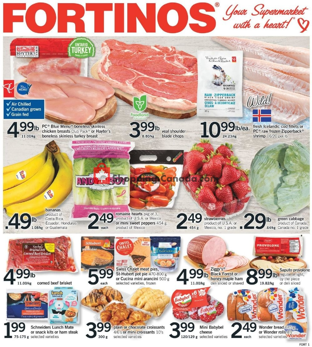 Flyer Fortinos Canada - from Thursday March 14, 2019 to Wednesday March 20, 2019