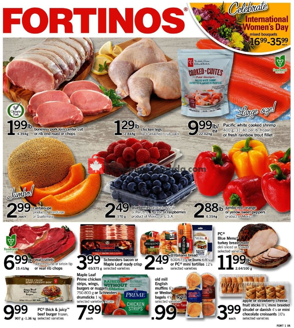 Flyer Fortinos Canada - from Thursday March 7, 2019 to Wednesday March 13, 2019