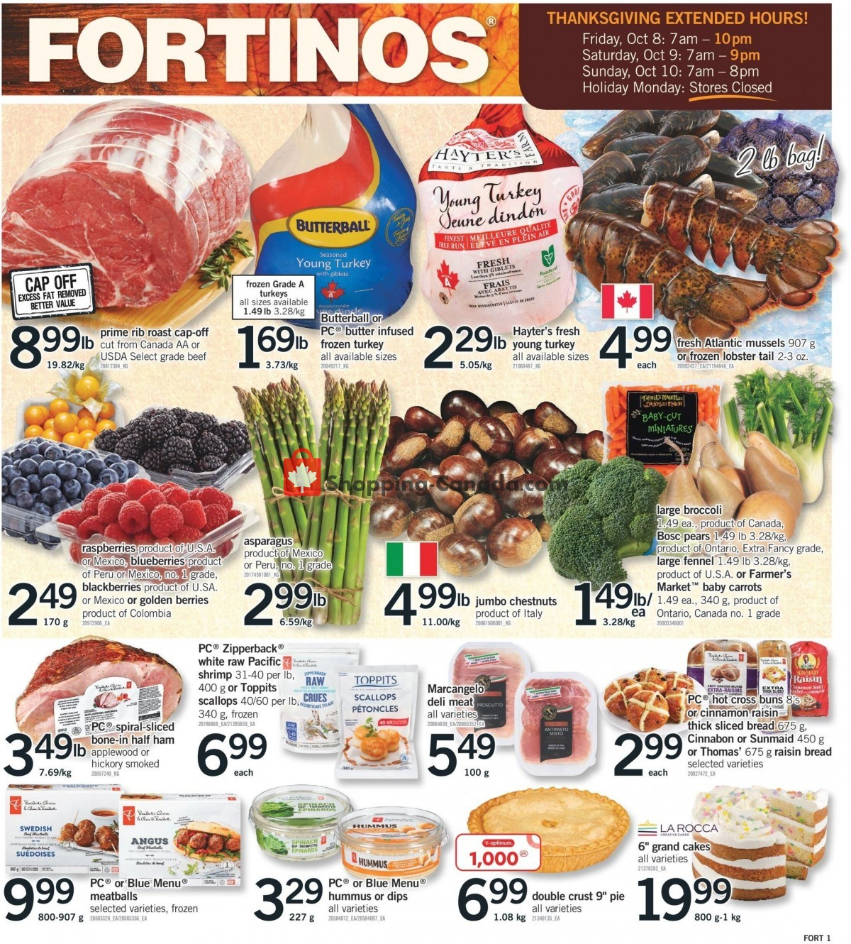 Flyer Fortinos Canada - from Thursday October 7, 2021 to Wednesday October 13, 2021