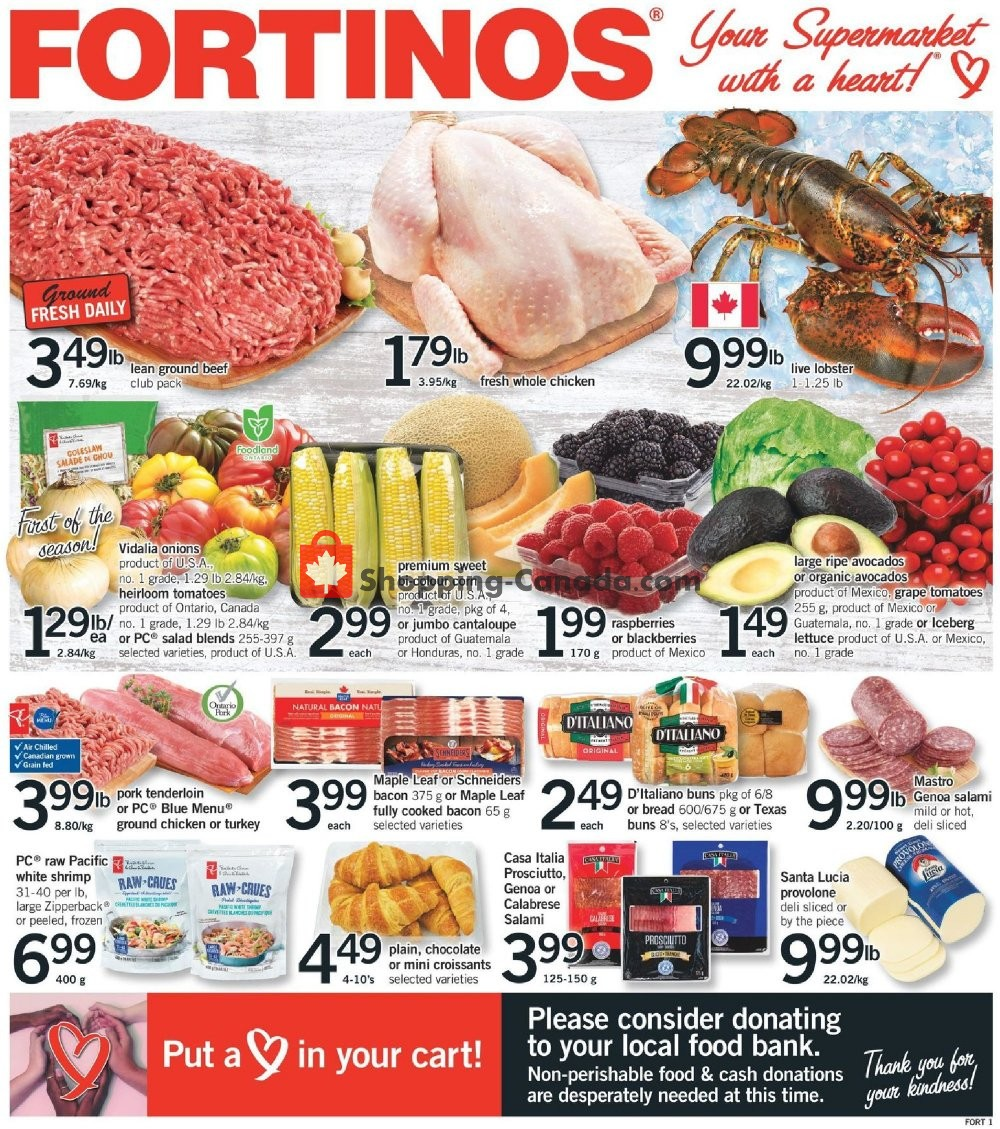 Flyer Fortinos Canada - from Thursday April 30, 2020 to Wednesday May 6, 2020