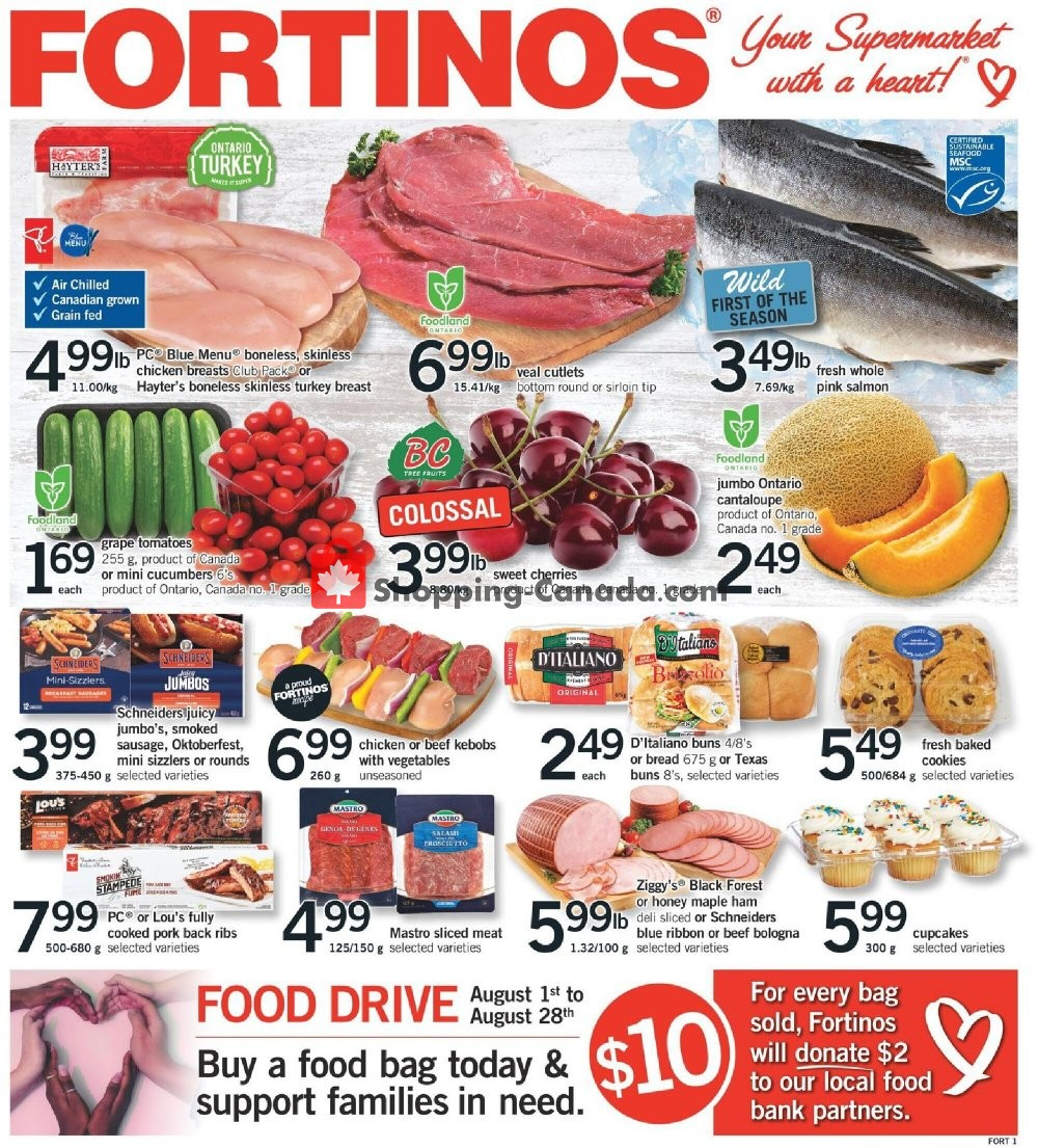 Flyer Fortinos Canada - from Thursday August 6, 2020 to Wednesday August 12, 2020