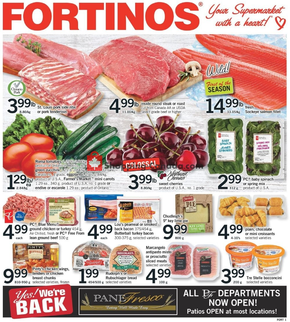 Flyer Fortinos Canada - from Thursday July 9, 2020 to Wednesday July 15, 2020