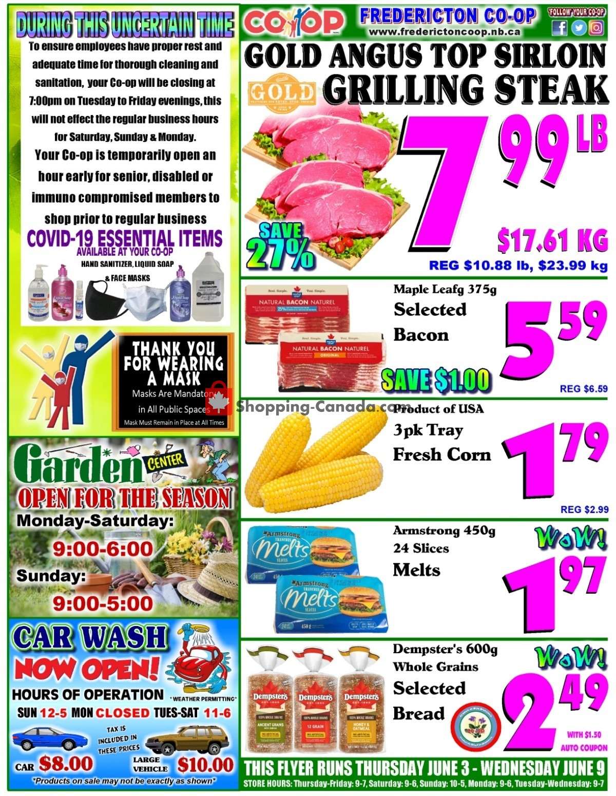Flyer Fredericton Co-op Canada - from Thursday June 3, 2021 to Wednesday June 9, 2021