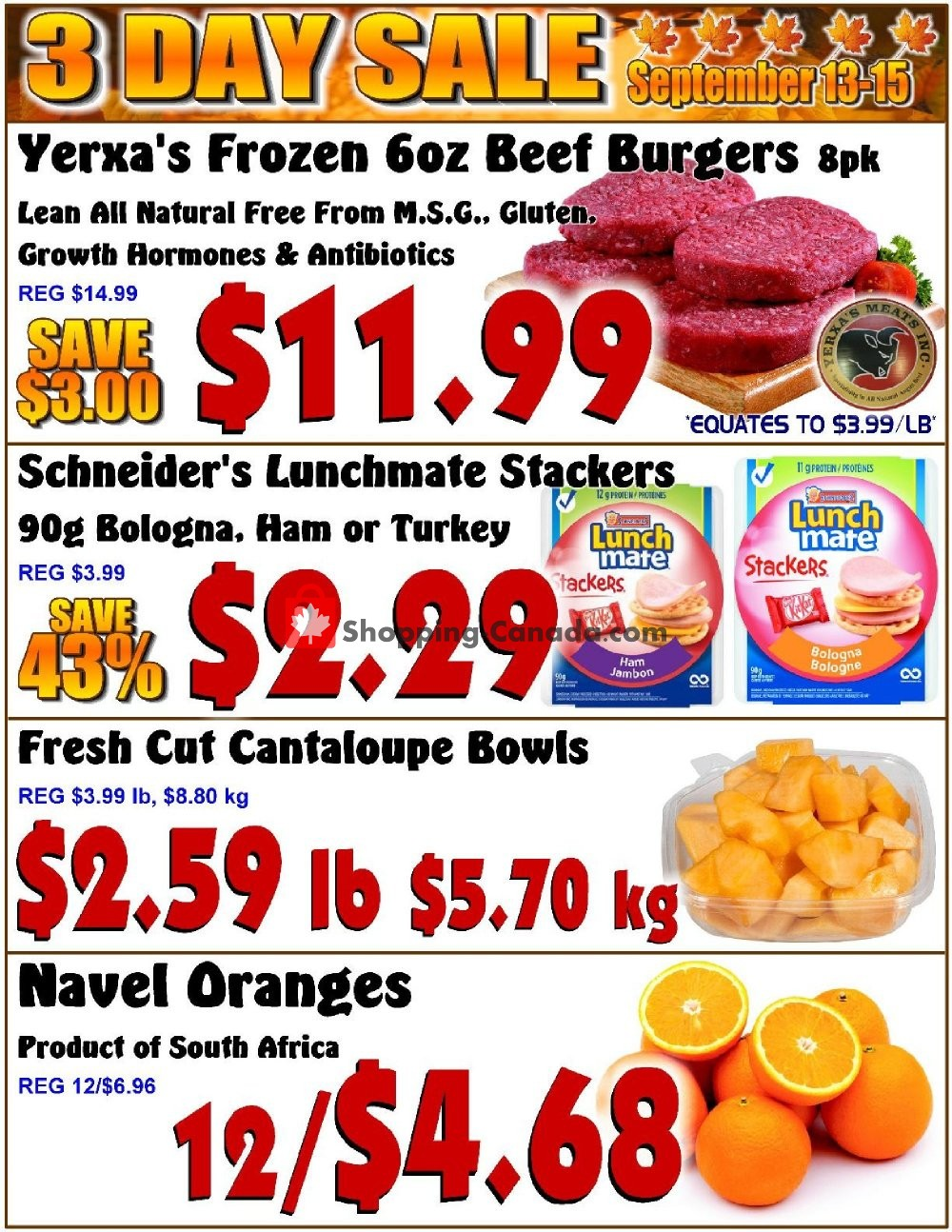 Flyer Fredericton Co-op Canada - from Thursday September 13, 2018 to Saturday September 15, 2018