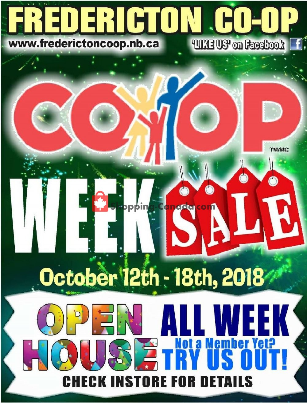 Flyer Fredericton Co-op Canada - from Friday October 12, 2018 to Thursday October 18, 2018