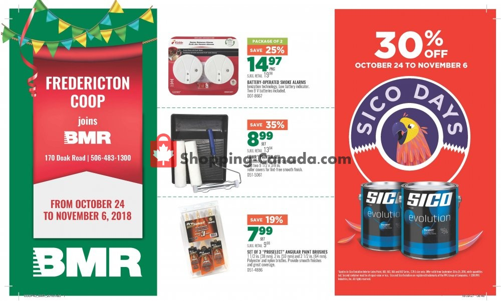 Flyer Fredericton Co-op Canada - from Wednesday October 24, 2018 to Tuesday November 6, 2018