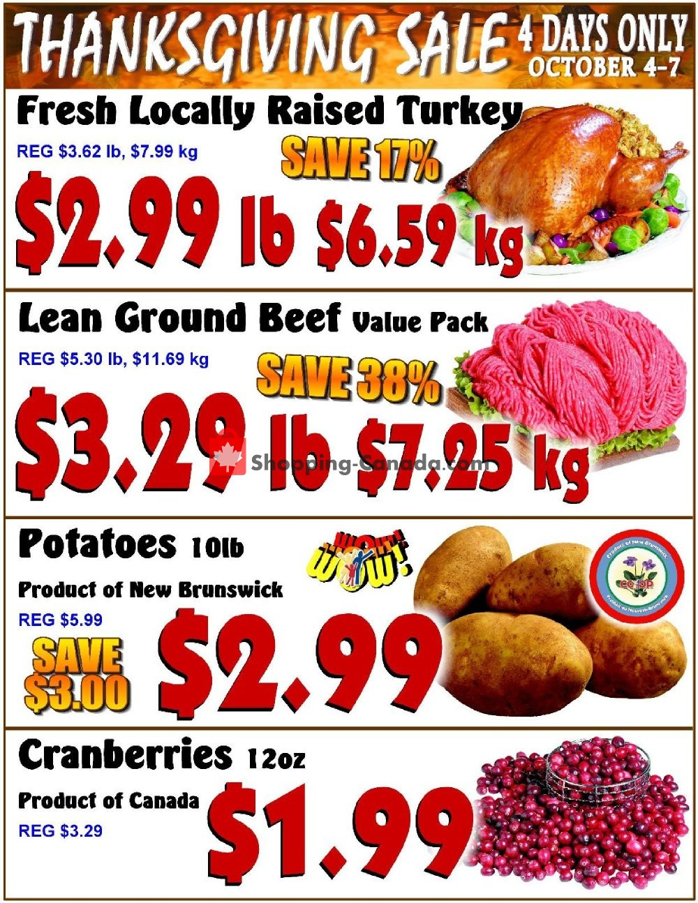 Flyer Fredericton Co-op Canada - from Thursday October 4, 2018 to Sunday October 7, 2018
