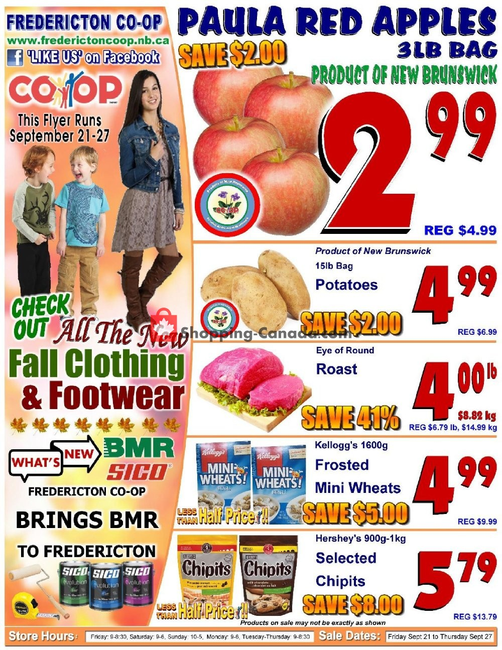 Flyer Fredericton Co-op Canada - from Friday September 21, 2018 to Thursday September 27, 2018