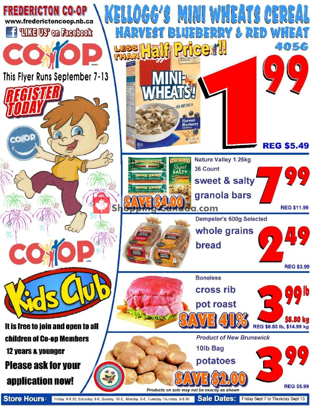 Flyer Fredericton Co-op Canada - from Friday September 7, 2018 to Thursday September 13, 2018