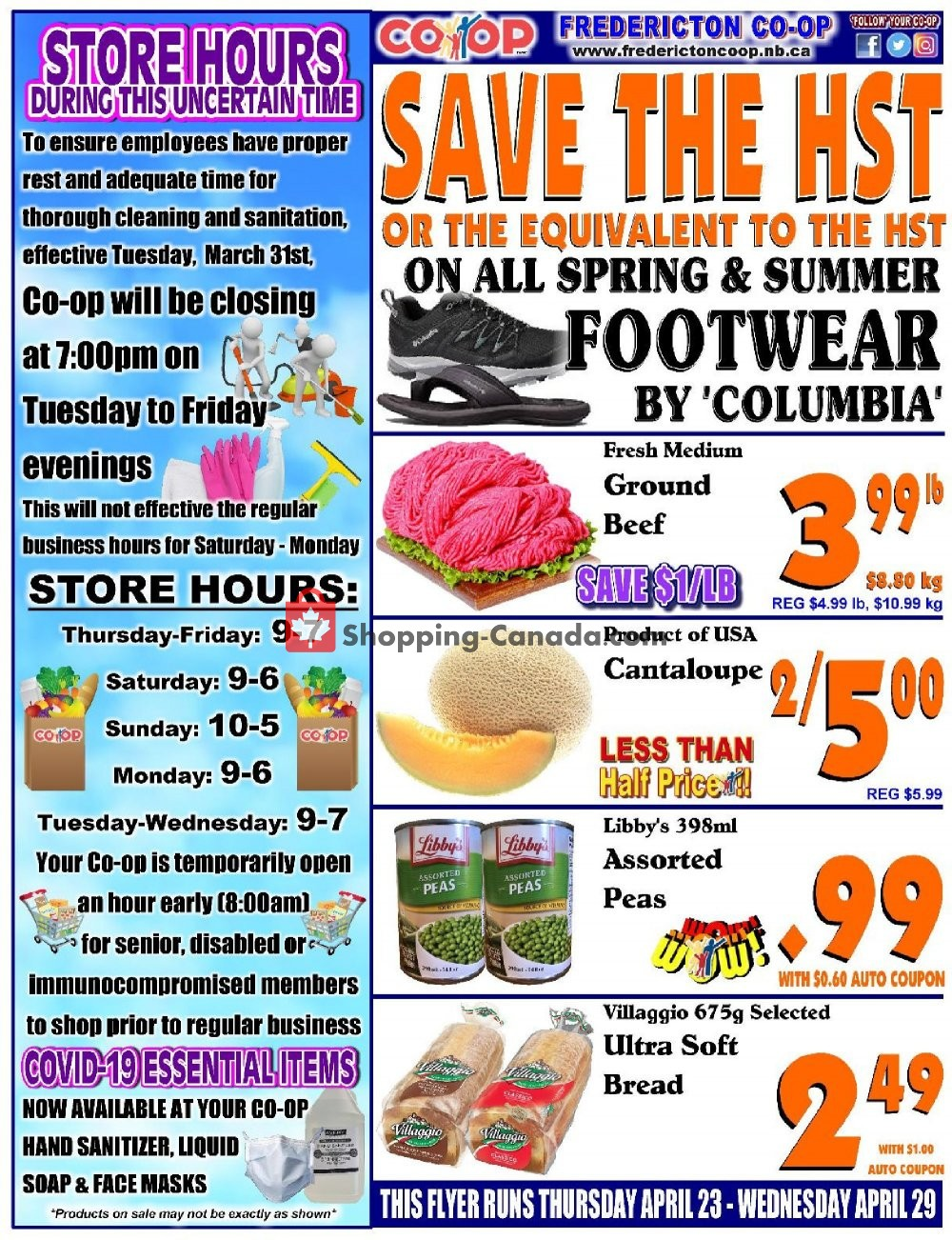Flyer Fredericton Co-op Canada - from Thursday April 23, 2020 to Wednesday April 29, 2020