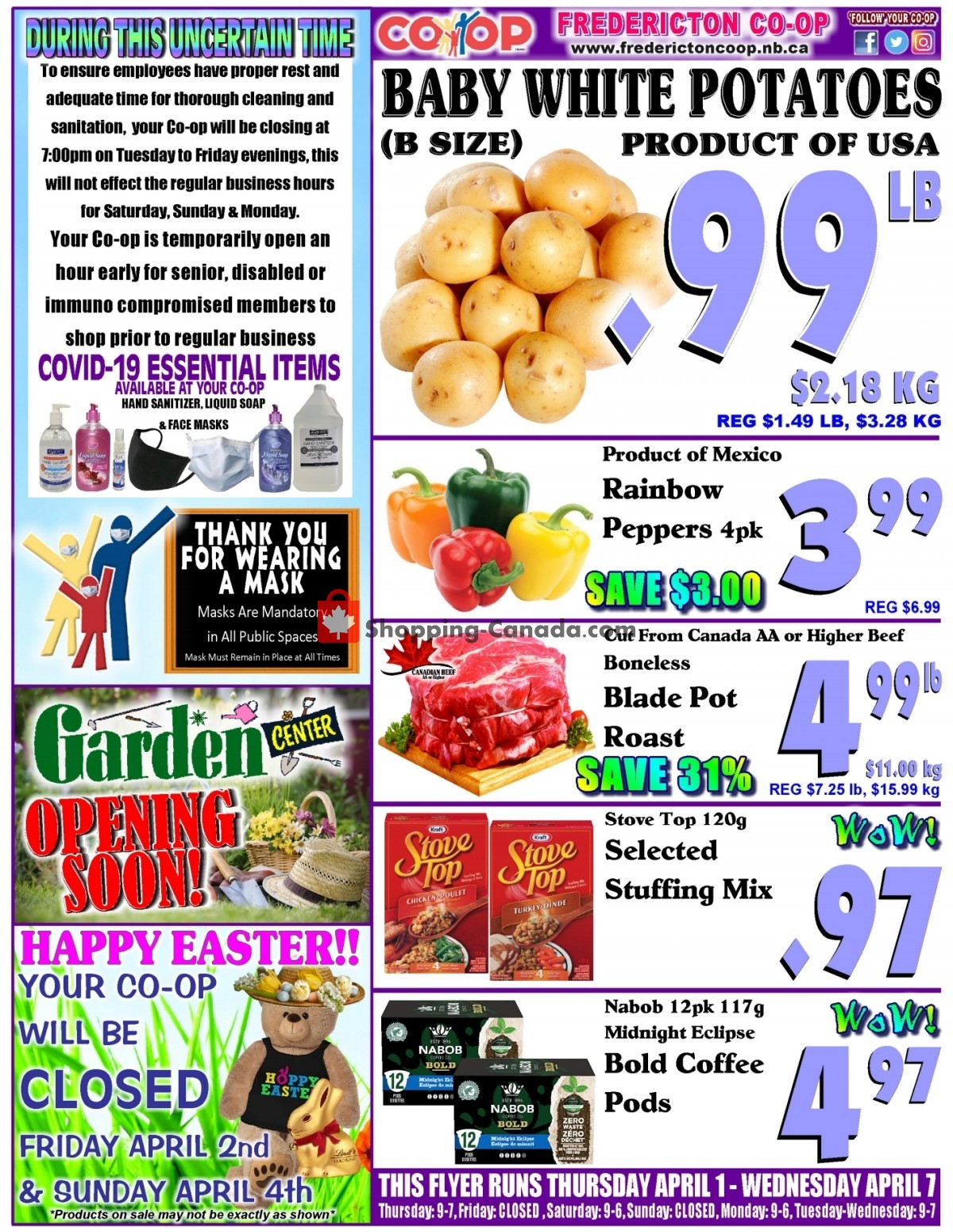 Flyer Fredericton Co-op Canada - from Thursday April 1, 2021 to Wednesday April 7, 2021