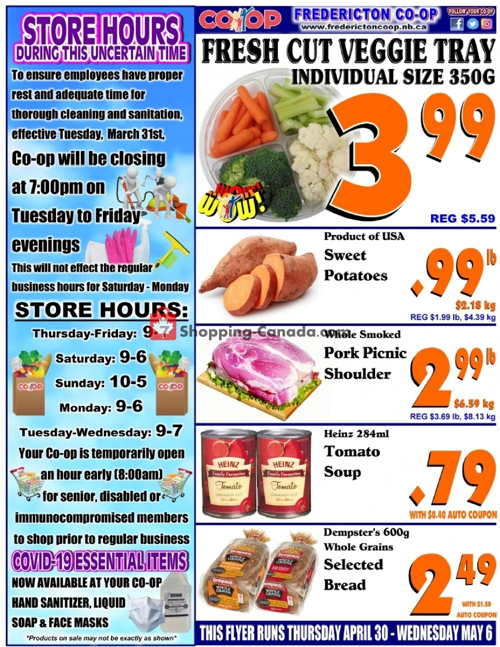Flyer Fredericton Co-op Canada - from Thursday April 30, 2020 to Wednesday May 6, 2020