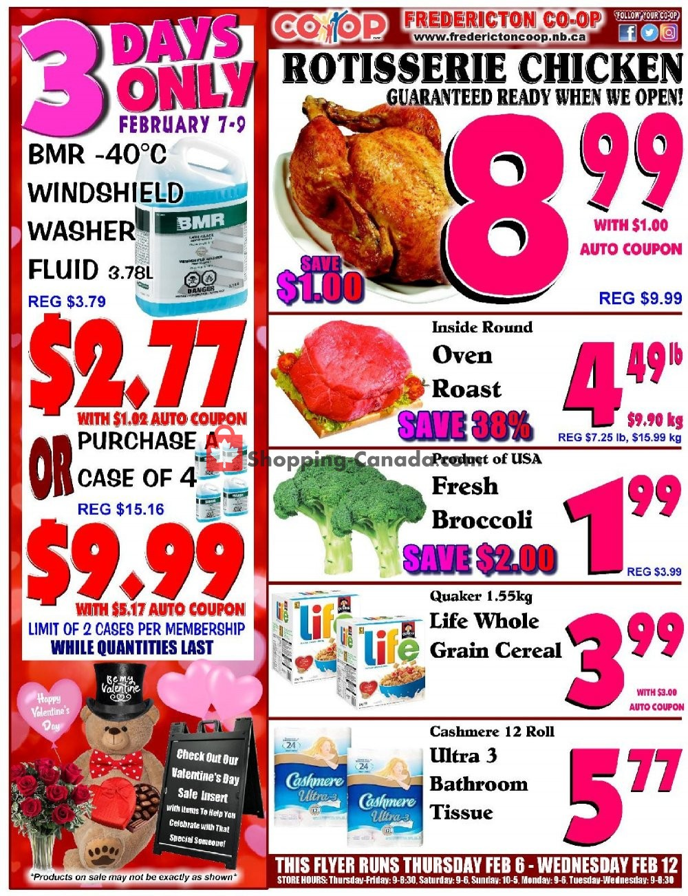 Flyer Fredericton Co-op Canada - from Thursday February 6, 2020 to Wednesday February 12, 2020