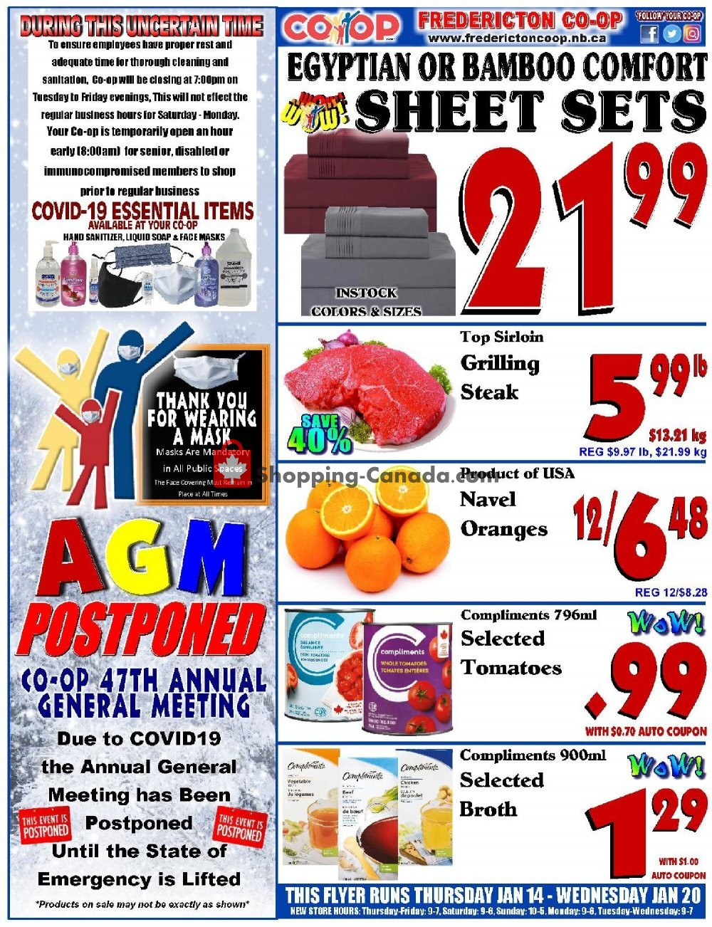 Flyer Fredericton Co-op Canada - from Thursday January 14, 2021 to Wednesday January 20, 2021
