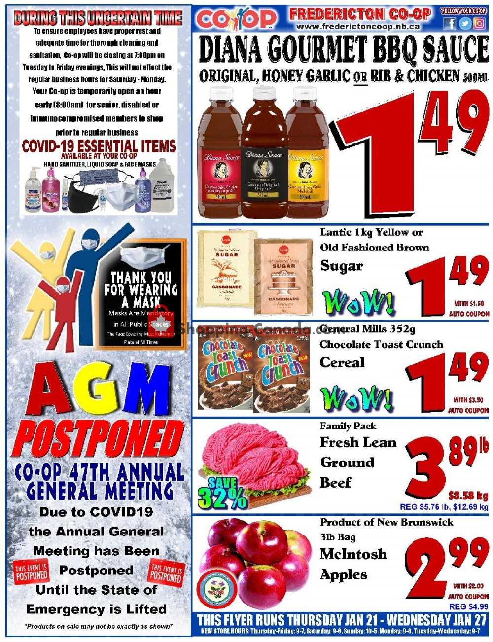 Flyer Fredericton Co-op Canada - from Thursday January 21, 2021 to Wednesday January 27, 2021