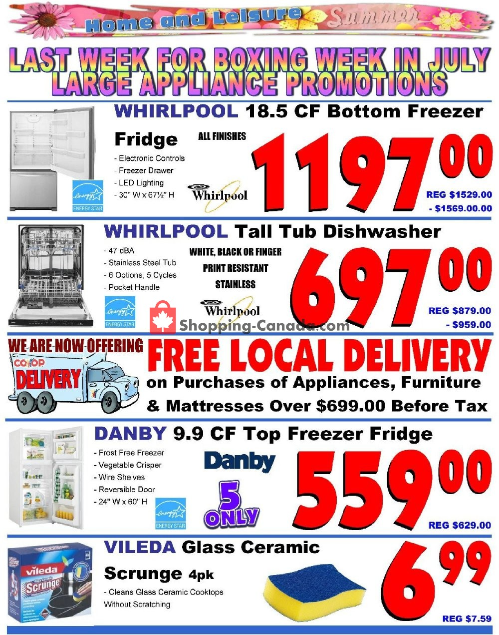 Flyer Fredericton Co-op Canada - from Thursday July 11, 2019 to Wednesday July 17, 2019