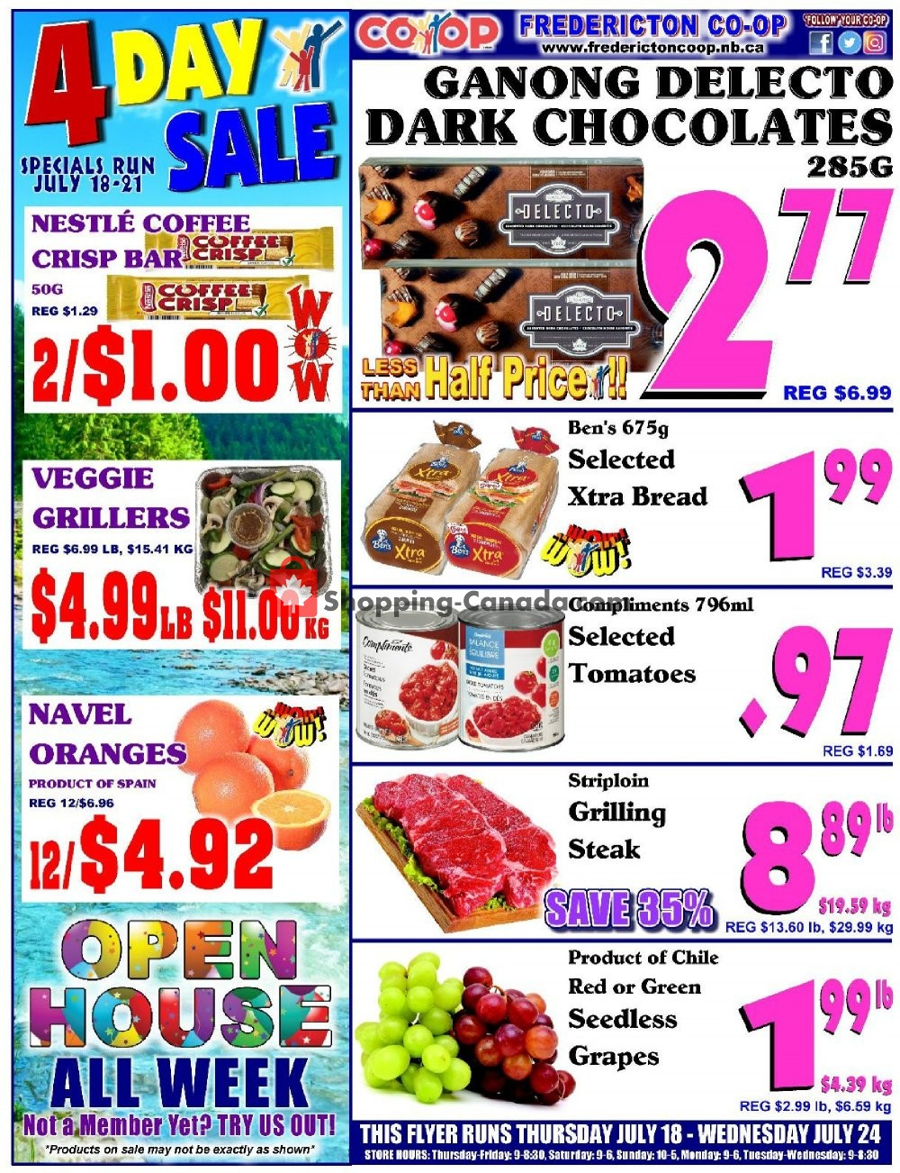 Flyer Fredericton Co-op Canada - from Thursday July 18, 2019 to Wednesday July 24, 2019