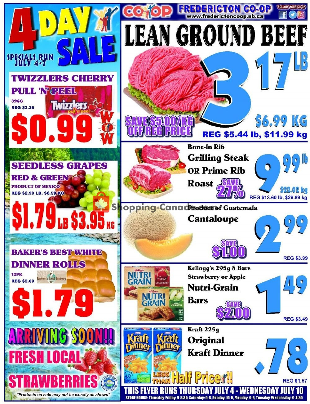 Flyer Fredericton Co-op Canada - from Thursday July 4, 2019 to Wednesday July 10, 2019