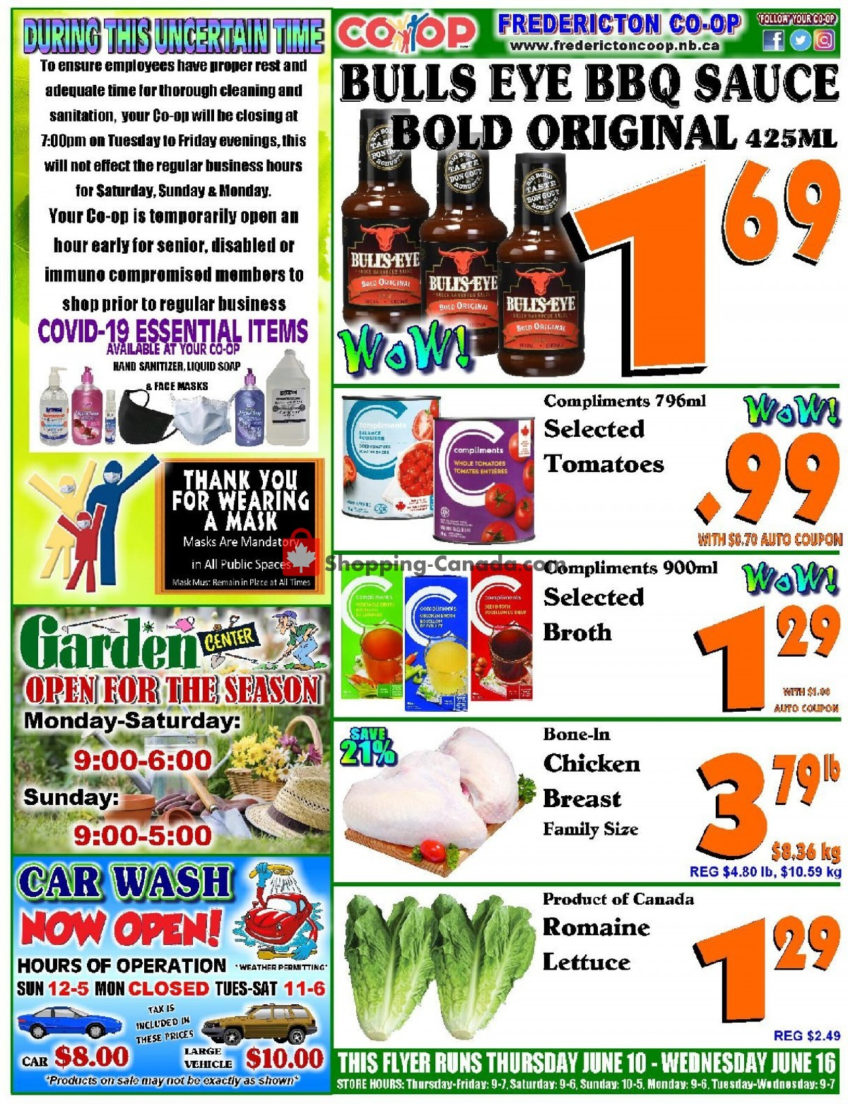 Flyer Fredericton Co-op Canada - from Thursday June 10, 2021 to Wednesday June 16, 2021