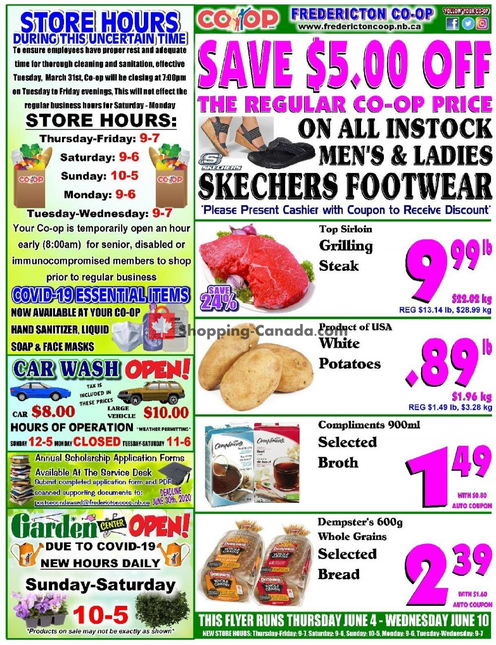 Flyer Fredericton Co-op Canada - from Thursday June 4, 2020 to Wednesday June 10, 2020