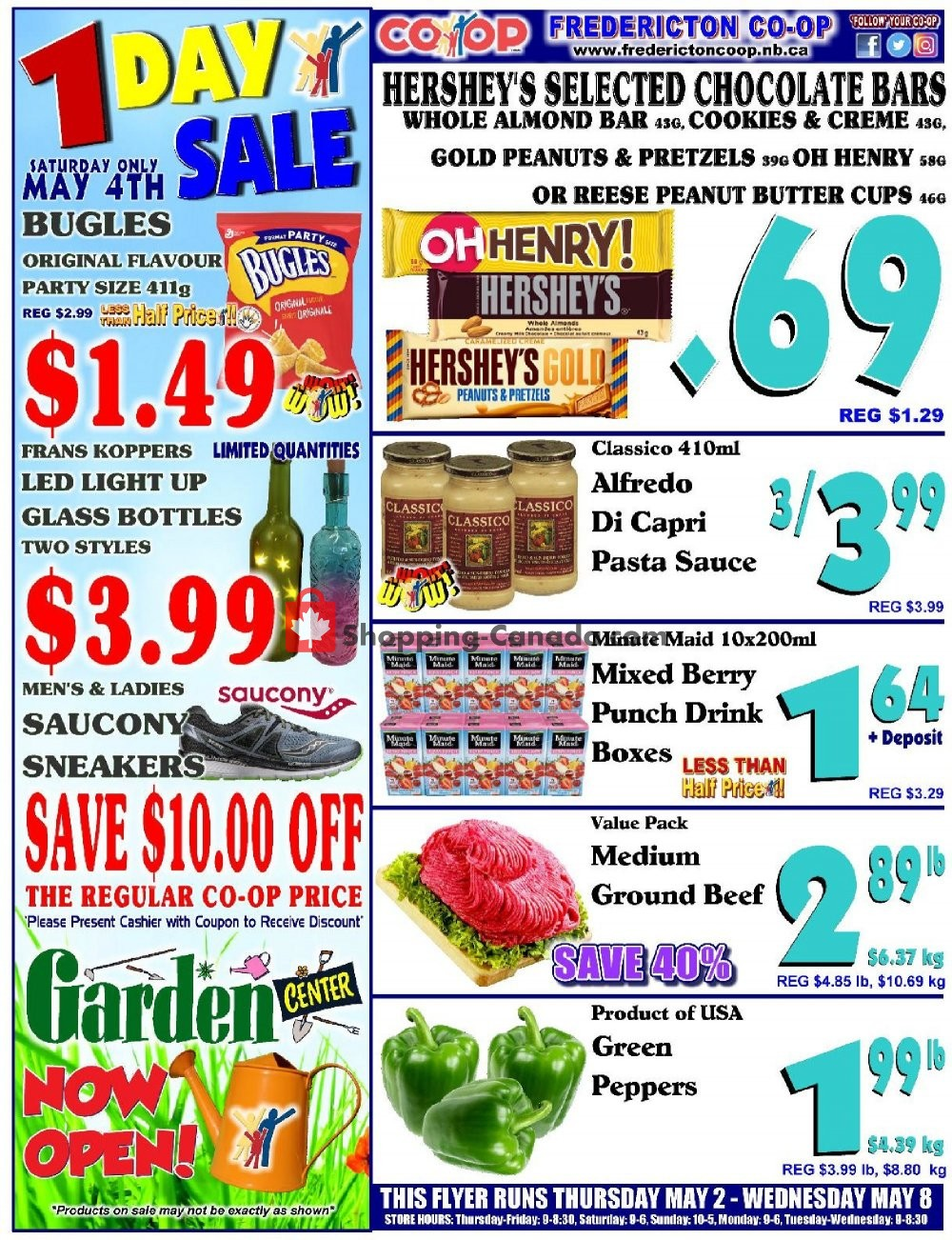 Flyer Fredericton Co-op Canada - from Thursday May 2, 2019 to Wednesday May 8, 2019