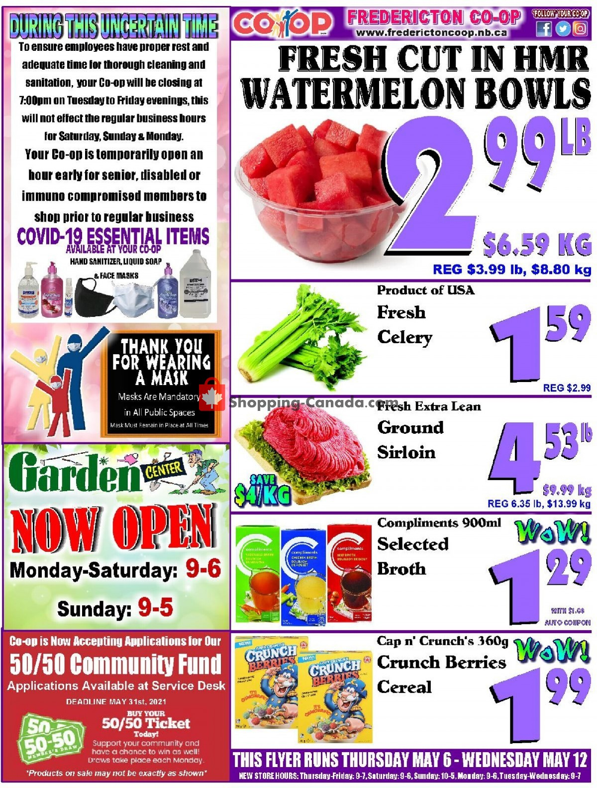 Flyer Fredericton Co-op Canada - from Thursday May 6, 2021 to Wednesday May 12, 2021
