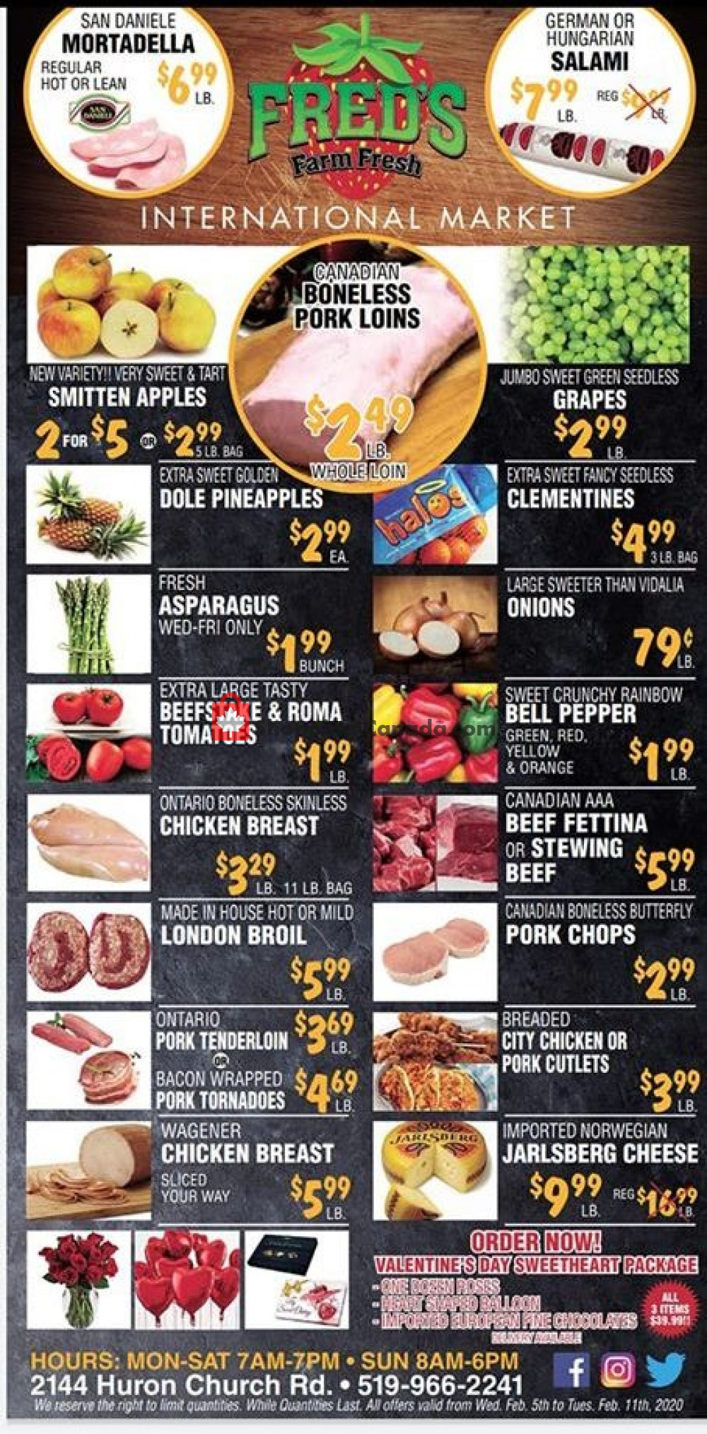 Flyer Fred's Farm Fresh Canada - from Wednesday February 5, 2020 to Tuesday February 11, 2020