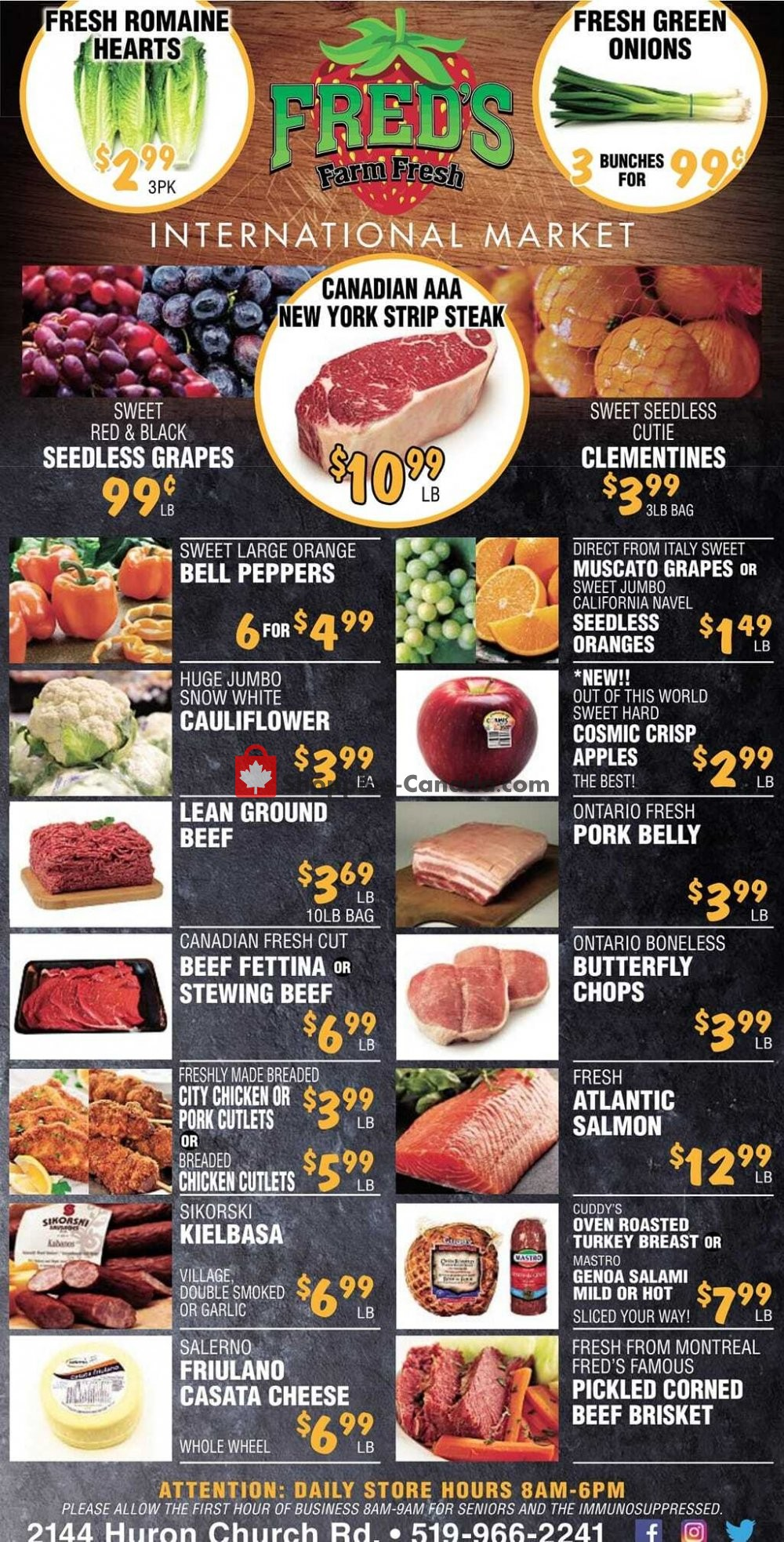 Flyer Fred's Farm Fresh Canada - from Wednesday January 13, 2021 to Tuesday January 19, 2021