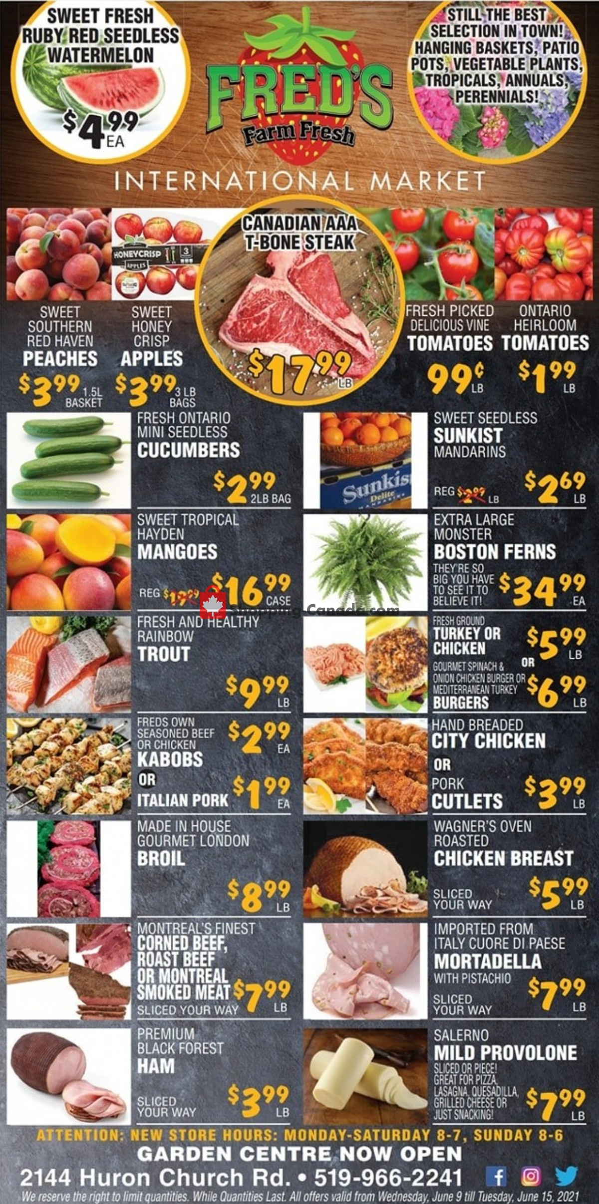 Flyer Fred's Farm Fresh Canada - from Wednesday June 9, 2021 to Tuesday June 15, 2021