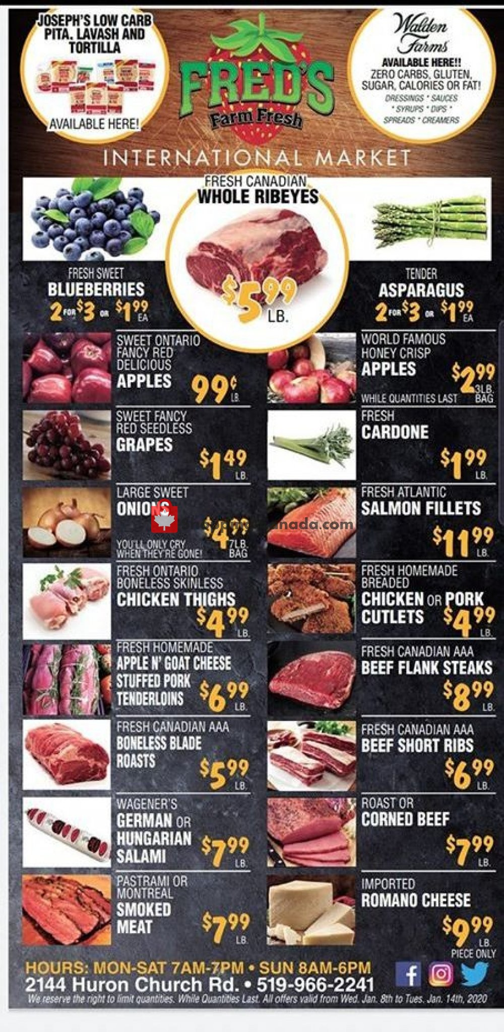 Flyer Fred's Farm Fresh Canada - from Wednesday January 8, 2020 to Tuesday January 14, 2020
