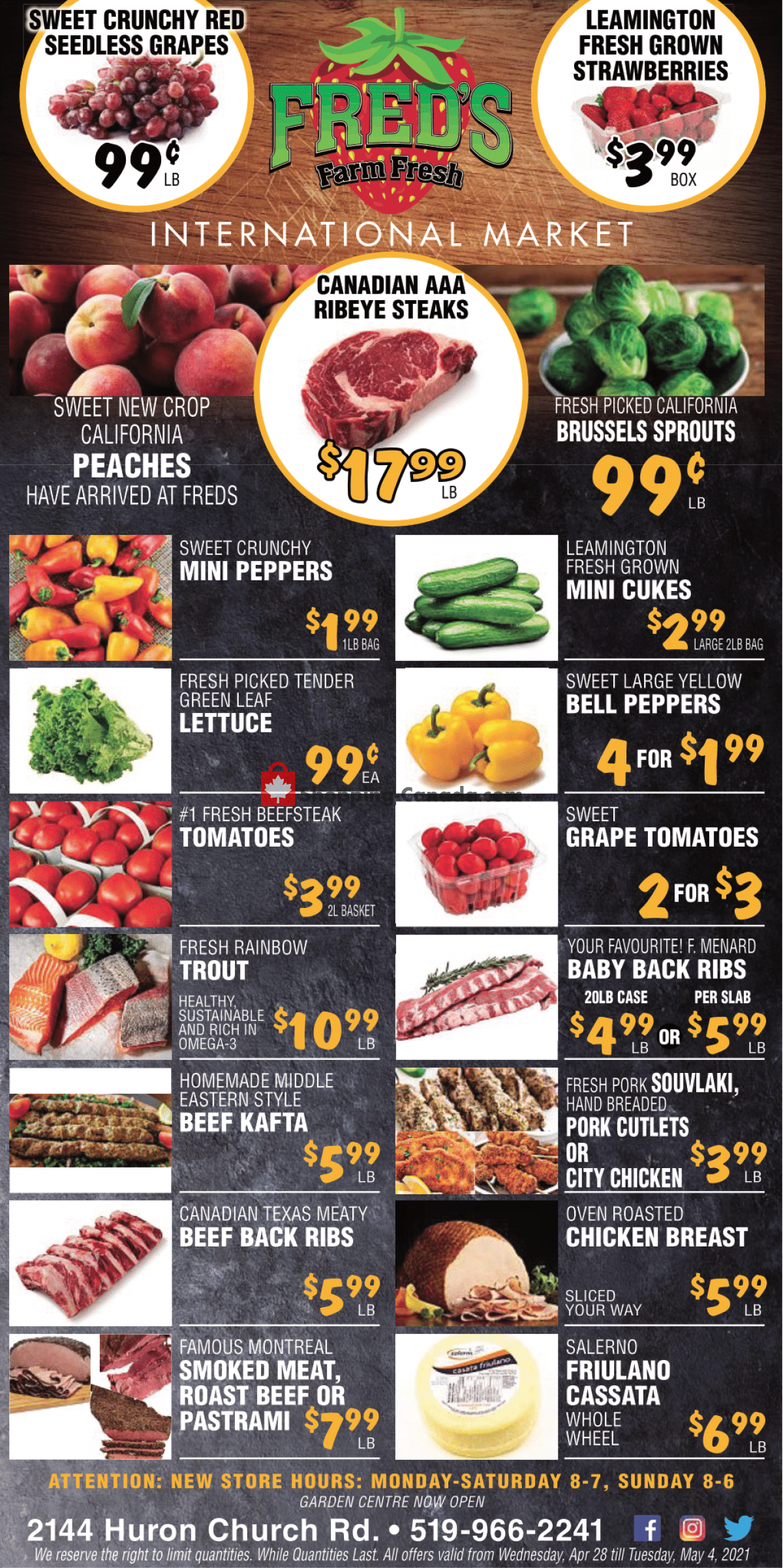 Flyer Fred's Farm Fresh Canada - from Wednesday April 28, 2021 to Tuesday May 4, 2021