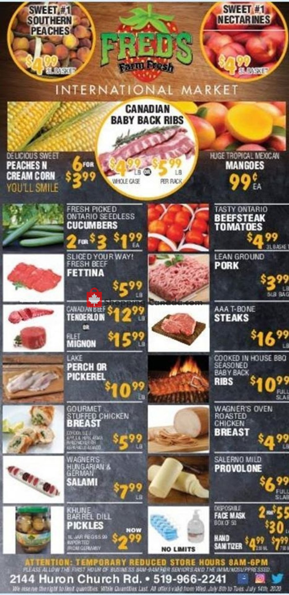 Flyer Fred's Farm Fresh Canada - from Tuesday July 7, 2020 to Monday July 13, 2020